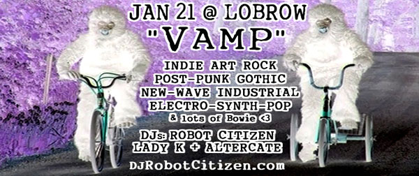 Canberran Australian New Dark Alternative Indie Gothic Industrial Goth Scene Clubs Nightclubs VAMP Nightclub DJs Civic Canberra City Goths in country Australia DJ Lady K Brad Altercate Robot J. Citizen Lobrow 2017 Low Brow Gallery Bar 2016