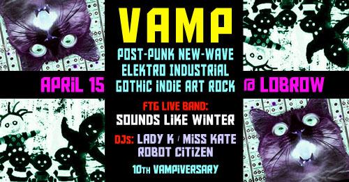 2017 Australian Gothic Industrial Darkwave Dark Electronica Alternative Indie Rock Night Club Event VAMP Canberra