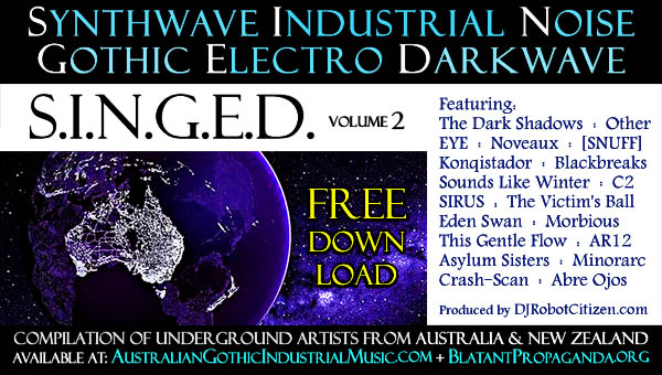 Australian New Zealand Gothic Industrial Dark Alternative Electronic Goth Dance Music Band Bands Art Cinema Literature Culture Films Movies Fashions Goths Club Scenes Melbourne Sydney Auckland Adelaide Brisbane Perth NZ Australia VIC NSW