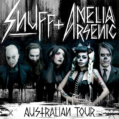 Amelia Arsenic SNUFF Australian Tour 2016 Poster Flyer Band Group Musician Project Artist Images Photos Pictures