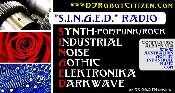 DJ Robot Citizen Dark Alternative Synth Pop Industrial Noise Gothic Goth Electro Punk Darkwave Underground Electronic Rock Dance Music Radio DJs Stations Shows Show Programme Program Programs Podcasts Australia Canberra Community 2XX 98.3 FM Podcast